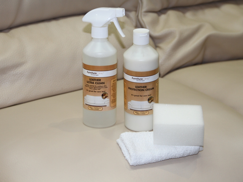 Leather Cleaner and Leather Protection Cream