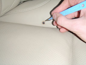 How To Repair A Burn In Leather E, How To Fix Burnt Leather Car Seat