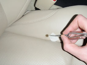 How To Repair A Burn In Leather E, How To Fix Burn Hole In Leather Car Seat